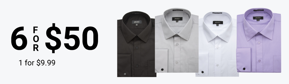 Dress Shirts 6 for $50