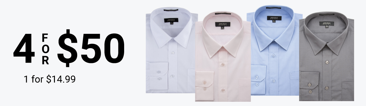 Dress Shirts: 4 for $50