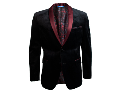 Shop Black Velvet Blazer with Satin Shawl Lapel only $59.99