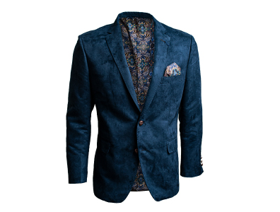Shop this Blue Microsuede Blazer only $59.99