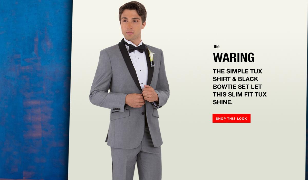 The Waring - Grey Shawl Lapel Tuxedo Look