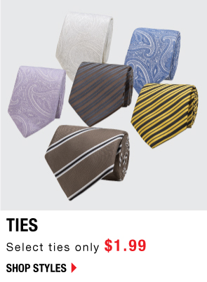Shop Ties only $1.99