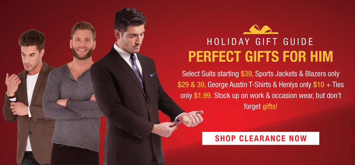 Shop our Holiday Clearance, Suits only $39