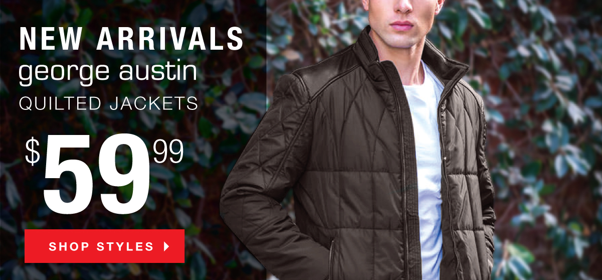 NEW George Austin Quilted Jackets
