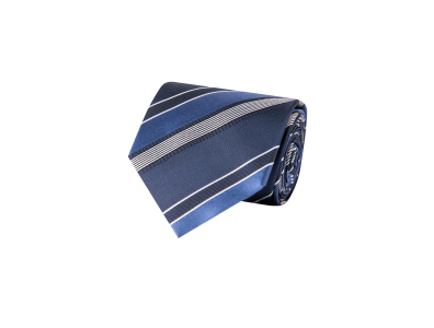 Shop this Cosani Blue Shades Multi Stripe Silk Tie only $14.99