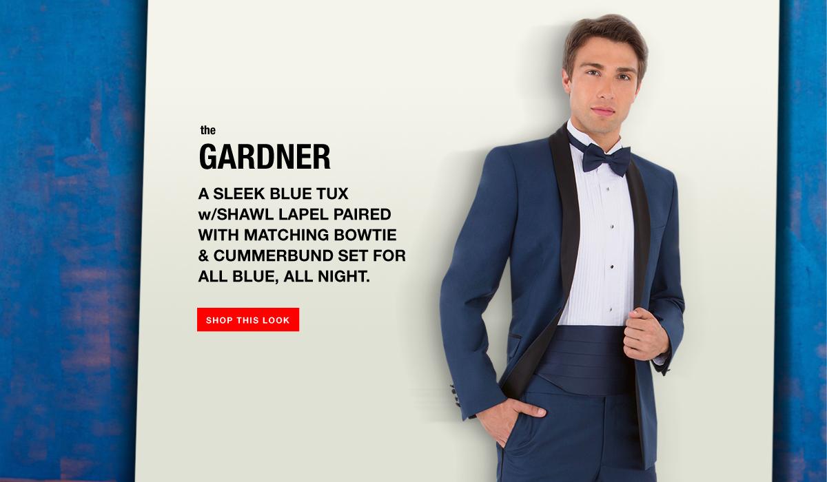 The Gardner - Blue Shawl Lapel Tuexedo Look